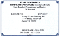 Georgia Cosmetology Approval
